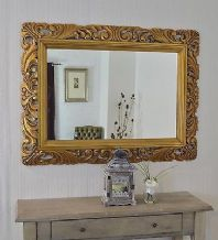 "48"" x 36"" LG Antique Silver Carved Decorative Bevelled Mirror - 6.5"" Wide Frame"